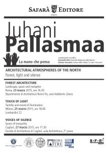 Tour J. Pallasmaa in Italia